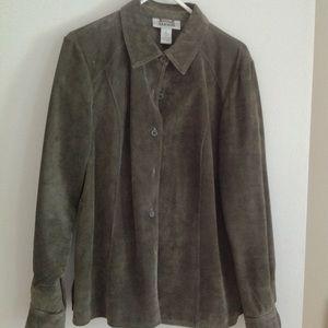 Alfani Olive Suede Jacket